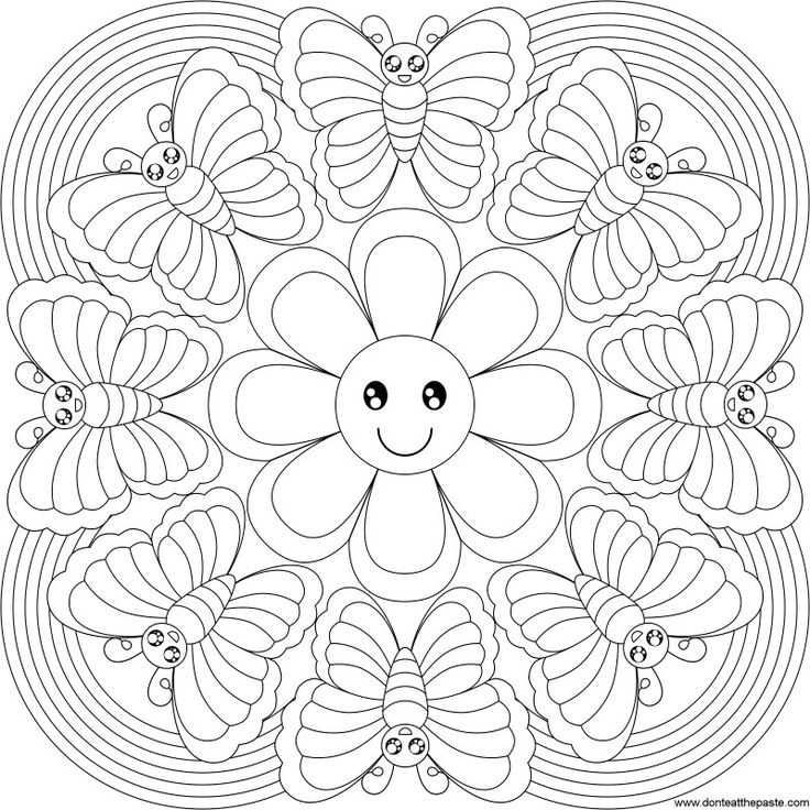 Flowers Drawings Inspiration Mandala Flower Coloring Pages Don T Eat The Paste Butterfly Rainbow Manda Flowers Tn Leading Flowers Magazine Daily Beautiful Flowers For All Occasions