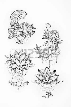 Flowers Drawings Lotus Flower Tattoo Designs Sketch Of A Lotus