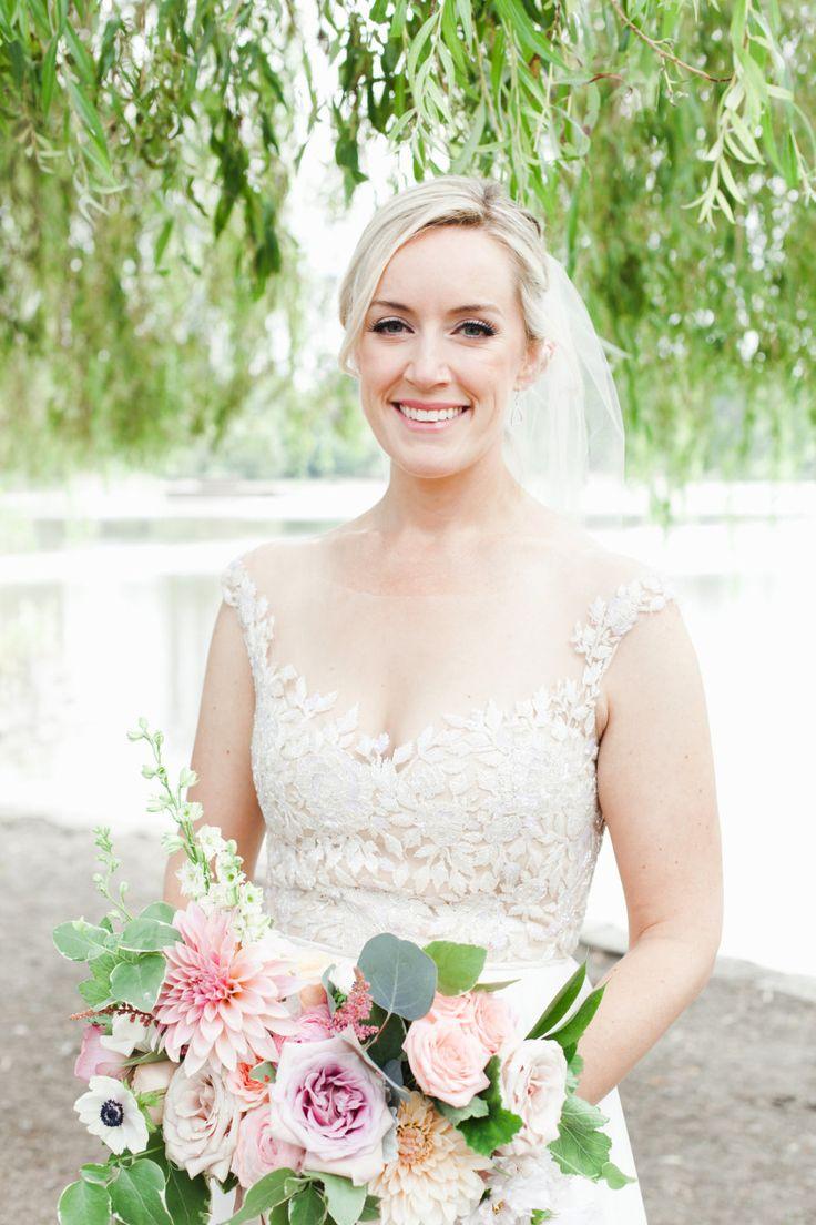 Hair + Makeup: Denise Elliot - www.stylemepretty... Wedding Dress: Reem Acra - w...