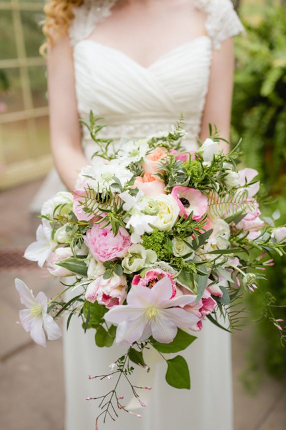 Romantic greenhouse wedding inspiration | Photo by Kate Hubler Photography | Rea...