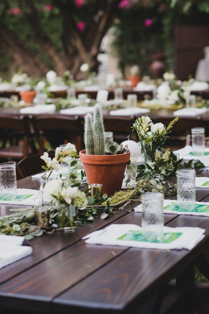 Wedding Potted Flower Table Pretty Pictures Picturesboss
