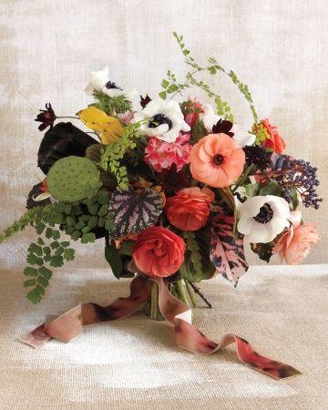 Weddings Flower Arrangements Ranunculus Anemones Chocolate