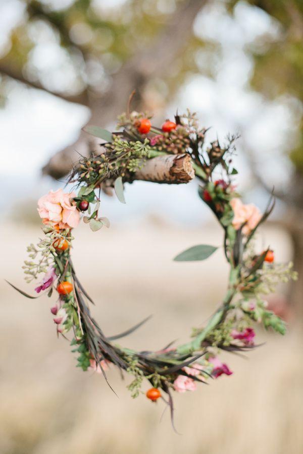 au natural wedding hair wreath