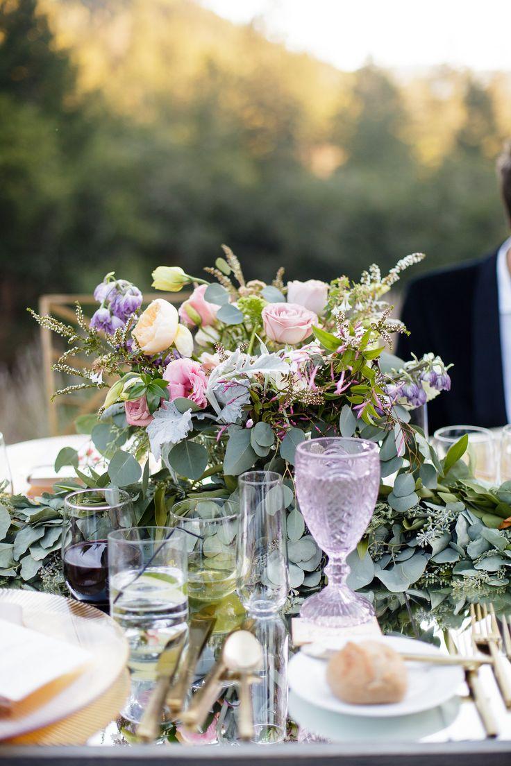 elegant and glam garden wedding reception decor