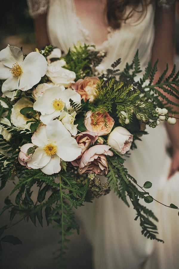 lush bouquet // photo by Sean Flanigan, flowers by Honey of a Thousand Flowers /...