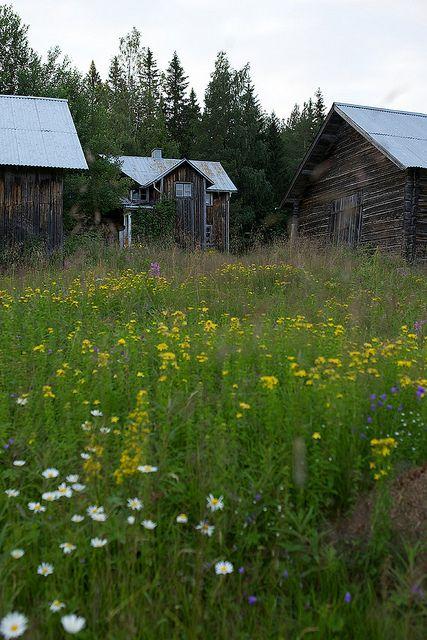 Dalarna, Sweden. Husen på Loberget