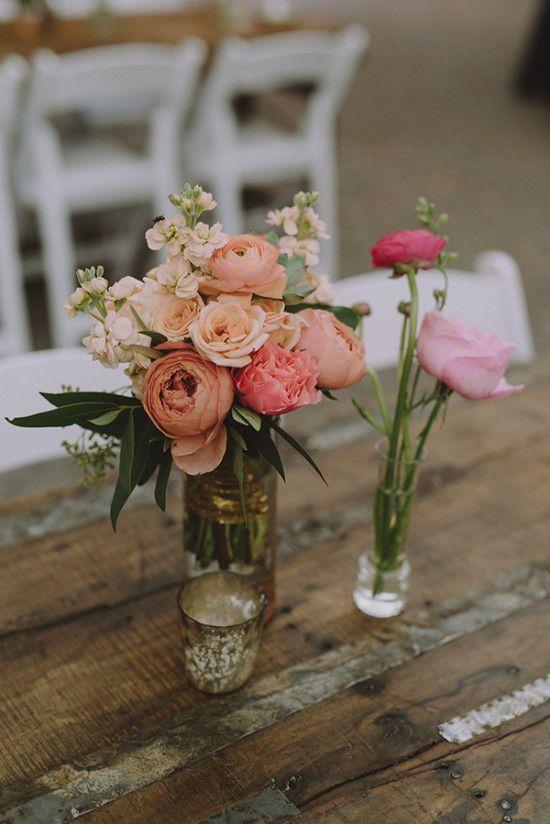 Weddings Flower Arrangements Simple Floral Centerpiece Idea