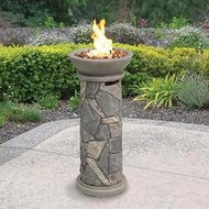 Fire column for deck.