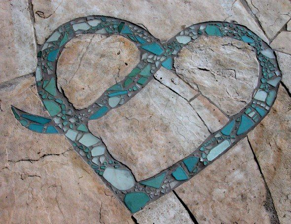 Recycled Glass For Garden path accent