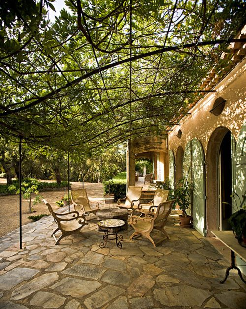 Tuscan Patio....