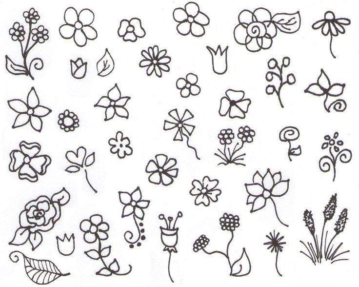 Aesthetic Simple Flower Drawing Pict Art