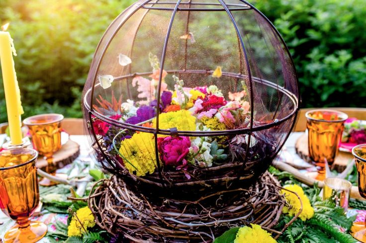 REAL butterfly centerpiece idea --- butterfly release at the end of the receptio...