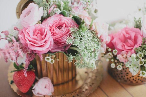 pink wedding flower centerpieces