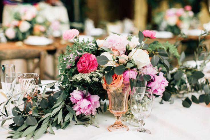 Weddings Flower Arrangements : pretty floral table runner ...