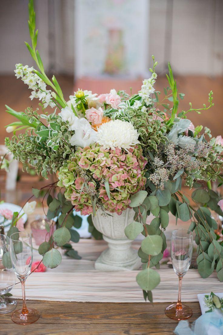 wild and organic flower centerpiece