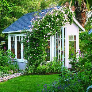 Garden cottage greenhouse | Sunset.com