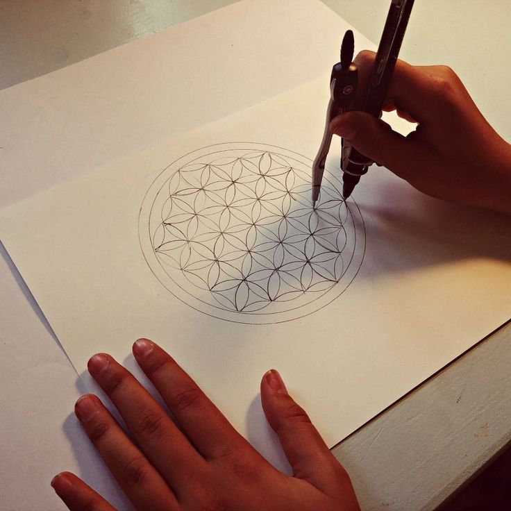 Drawing the Flower of Life