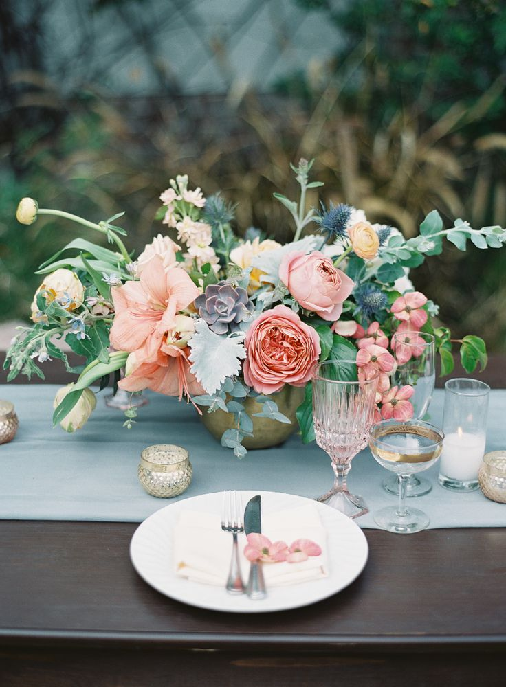 Rustic ranunculus, peony and succulents: Photography: Sposto Photography - www.s...