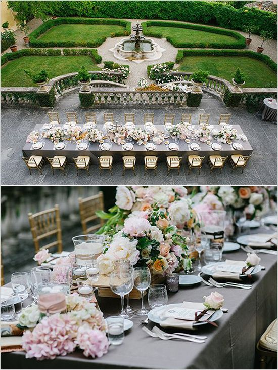 Romantic and regal wedding ideas. Italian destination wedding.