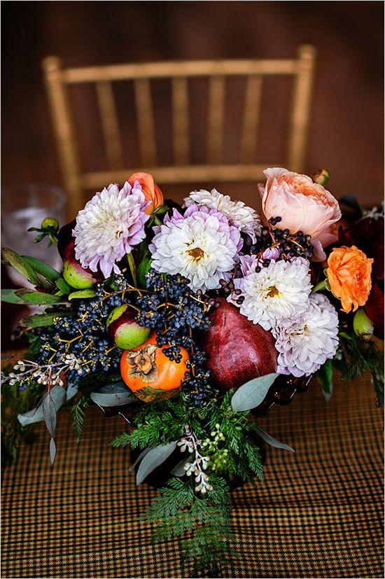 fruit and flower centerpiece wedding chicks