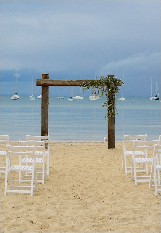 #weddingceremony #beach #beachwedding #simpledecor #weddingdecor wedding chicks