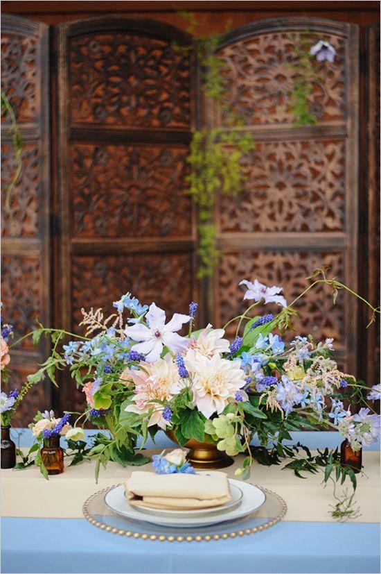 wild and gorgeous floral centerpiece wedding chicks