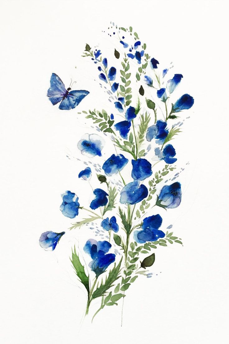 Here is a giclee Art Print of my original watercolor painting. Flowers and butte...