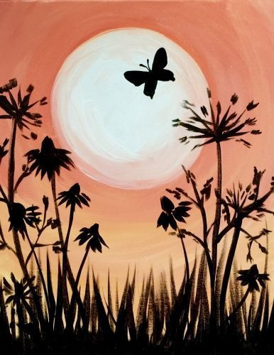 Image result for flowers and butterfly pictures painting ideas