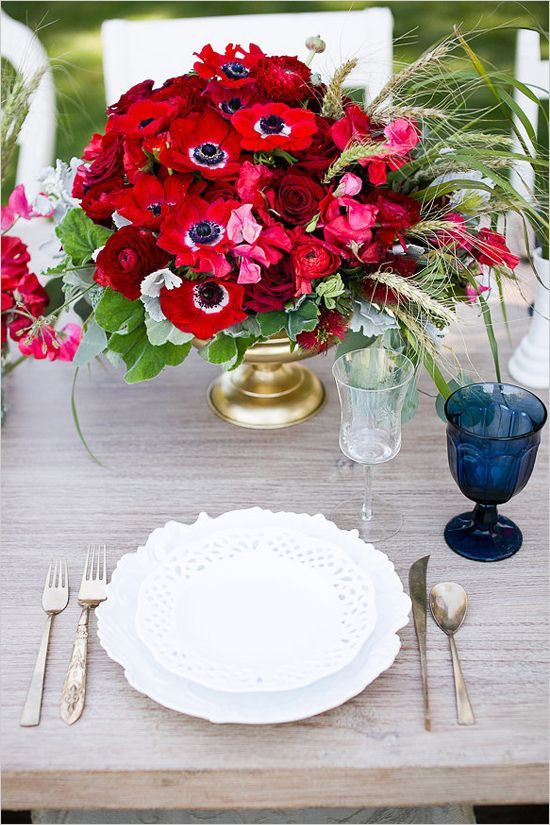 Ideas For Red White And Blue Flower Arrangements Flowers Healthy