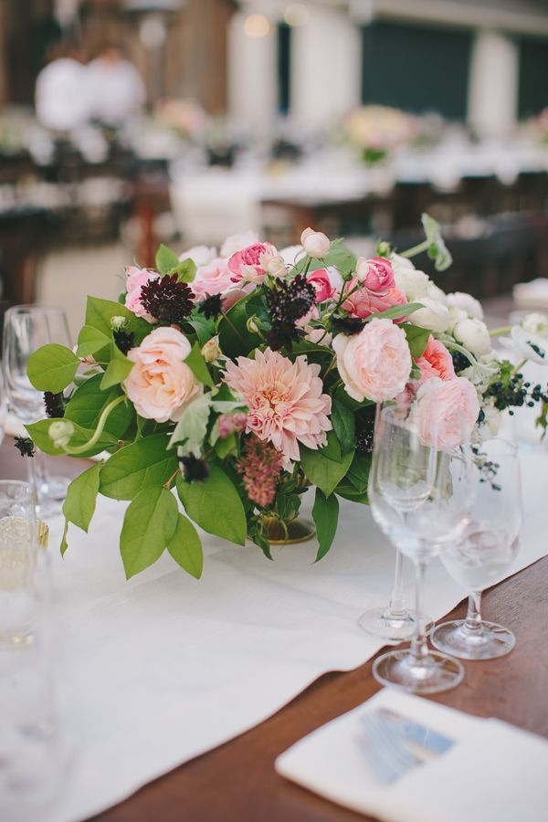 Weddings Flower Arrangements Spring Wedding Centerpiece Idea