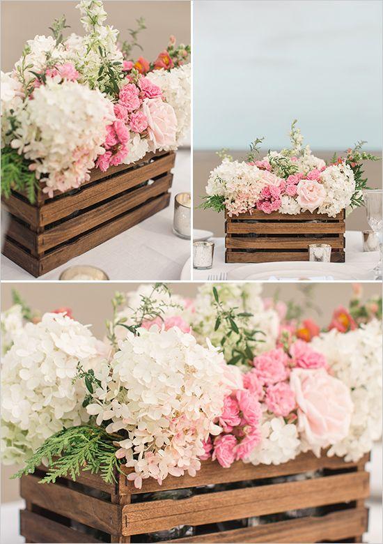 floral centerpiece   diy wood box   bouquet recipe   diy wedding   reception   #...