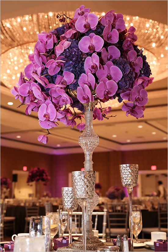 Enjoyable Weddings Flower Arrangements Orchid And Hydrangea Interior Design Ideas Oteneahmetsinanyavuzinfo