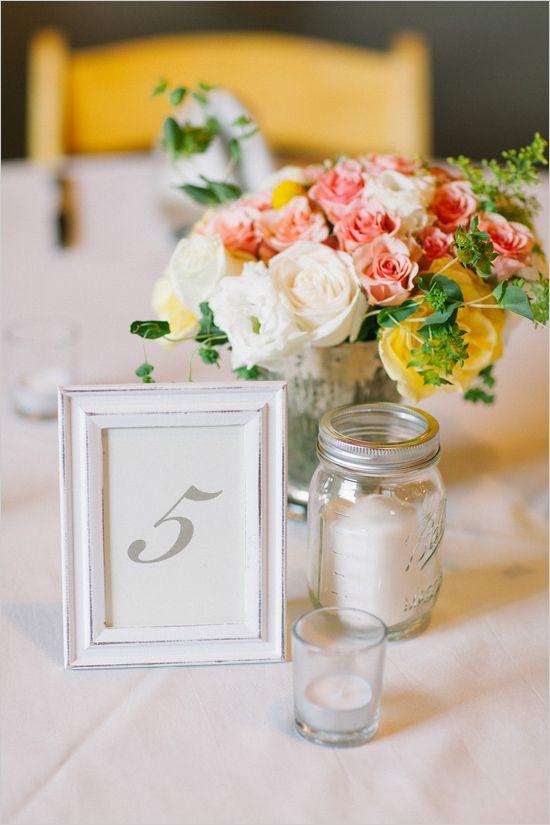 Photo Frame Centerpieces For Weddings Beloved Blog