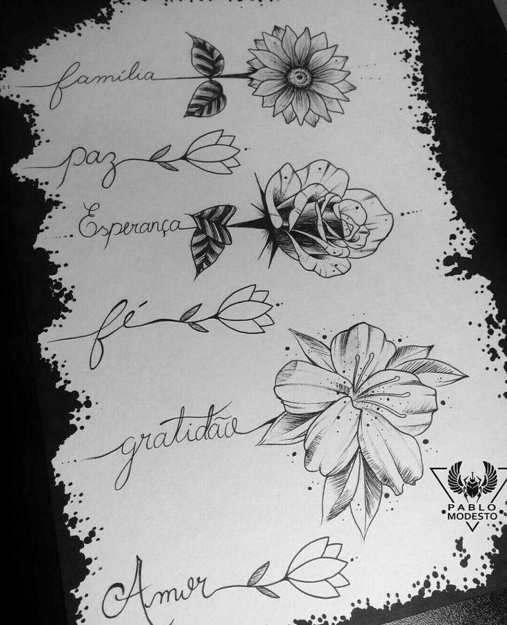 Flowers Drawings Flowers Flower Tattoo Tattoostencil Stencil