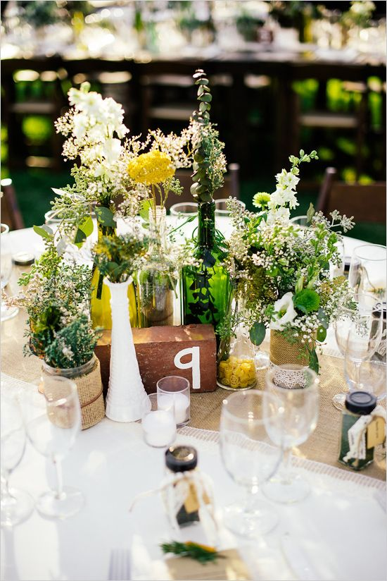 shabby chic centerpiece #weddingdecor #diy #weddingchicks www.weddingchicks...