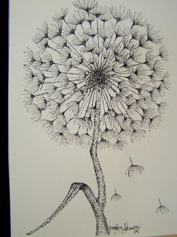 Dandelion Stippling Print P57