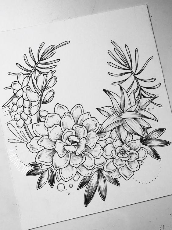 Flowers Drawings Desenhos De Flores De 120 Modelos Tatuagens