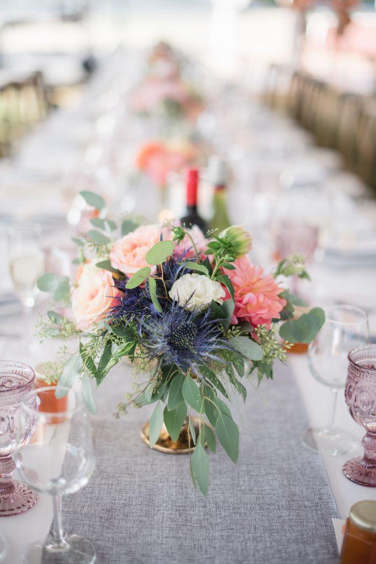 Summer flower centerpiece #wedding #weddingshoes #weddingday #marryingmybestfrie...