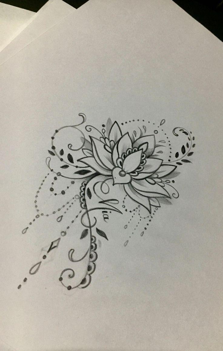 Flowers Drawings  Lotus mandala tattoo Mandalatattoo