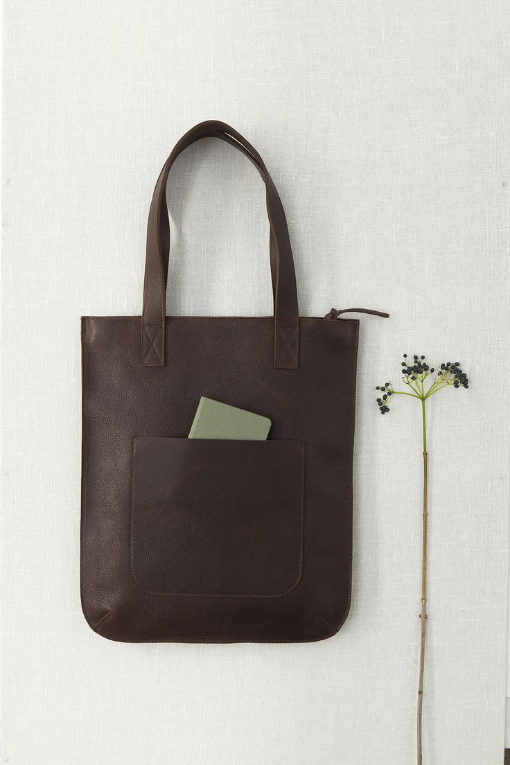 Dark brown leather bag from Keecie.