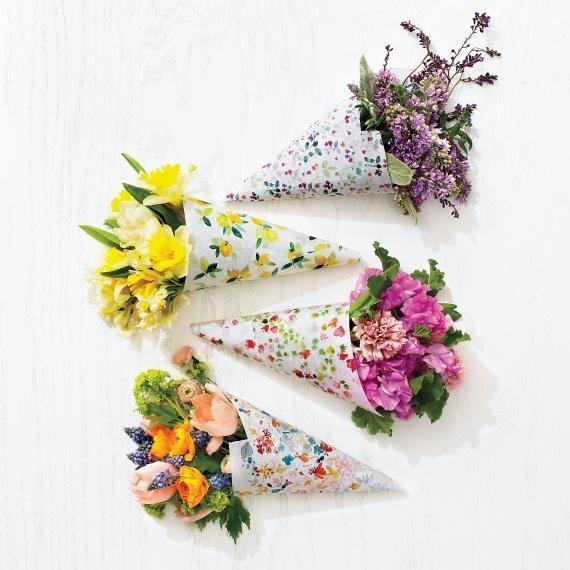Printable floral paper vases