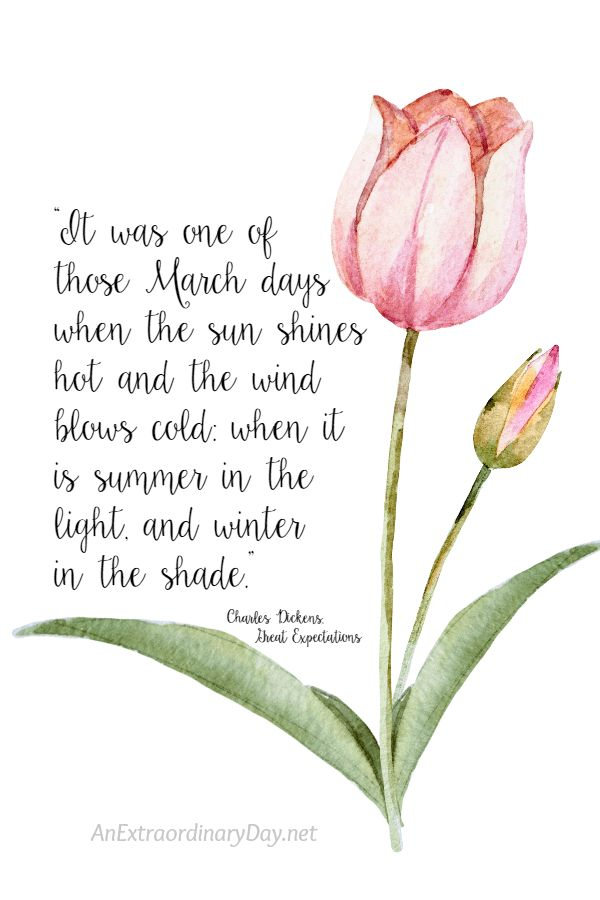 8x10 Spring Printable QUOTE from Charles Dickens on March to download for person...