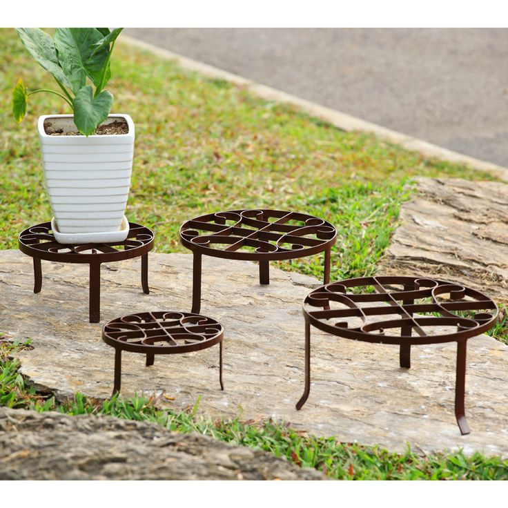 4 Piece Barstow Plant Stand Set