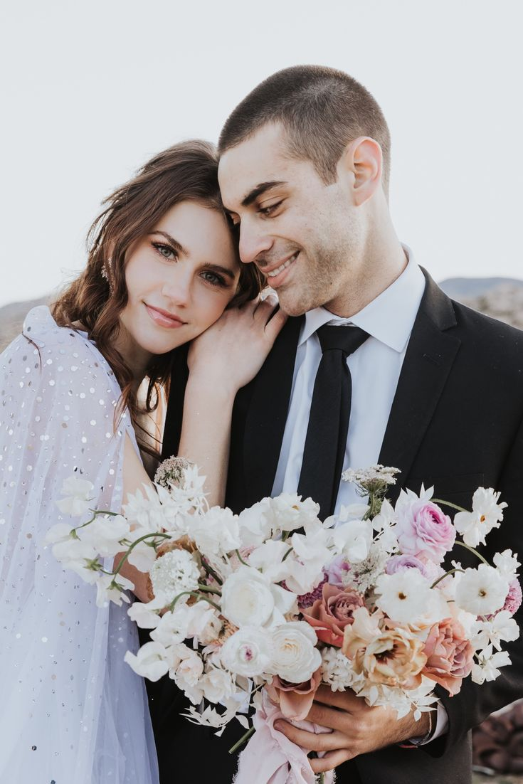 Bohemian Glitz and Glam Desert Elopement