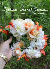 Forever Floral Crowns Tutorial | Mom Spark - Mom Blogger
