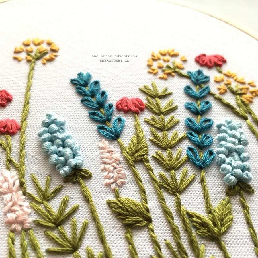 Beginner Hand Embroidery Pattern - Bright Summer Meadow