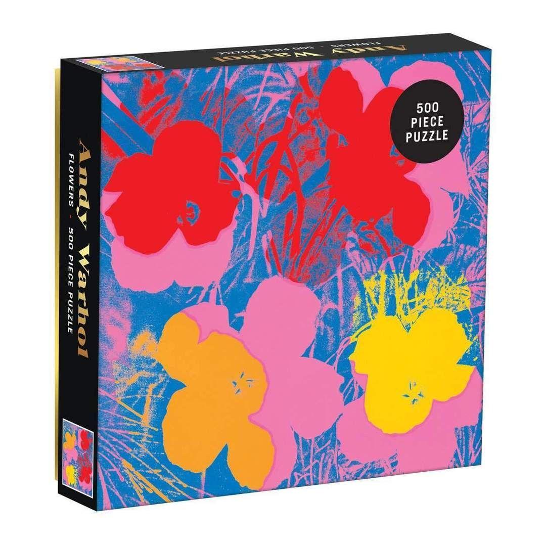 Andy Warhol Flowers 500 Piece Jigsaw Puzzle