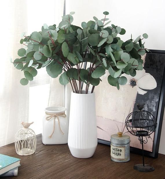 Greenery Artificial Plants Eucalyptus Leaves For Home Decoration Wedding Christmas Holiday Ornament