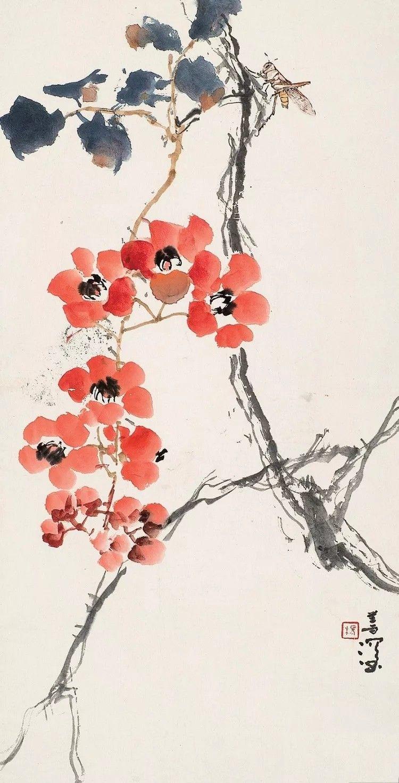 Flowers Chinesische japanische Tusche Malerei Chinese Japanese painting sumie painting