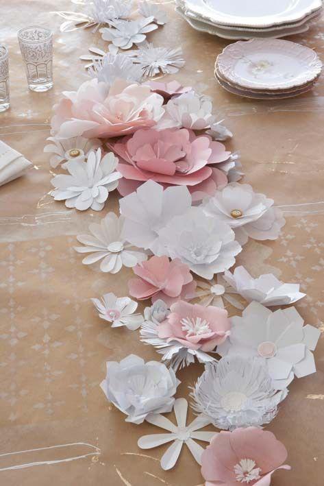 Jolie table tout en papier - Happy Chantilly